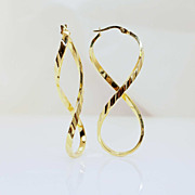14k Yellow Gold Figure 8 Earrings