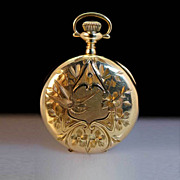 Vintage Elgin Ladies 14k Yellow Gold Pendant Pocket Watch