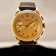 GENTS 18 Karat Vintage Rose Gold Watch