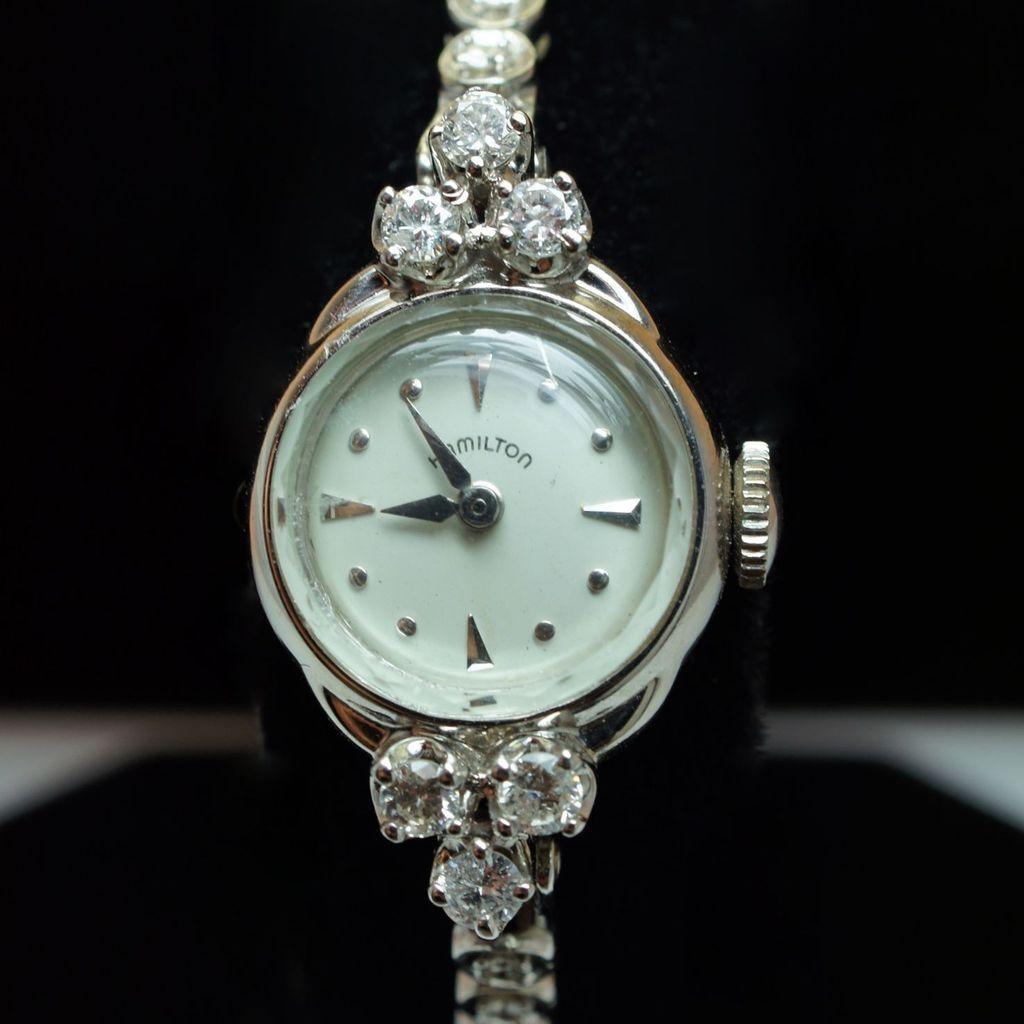 vintage hamilton wristwatch 14k