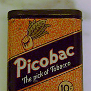 Vintage Picobac Advertising Pocket Tobacco Tin