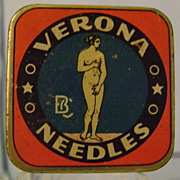 Vintage Verona Phonograph Needle Tin