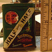 Vintage Sample and Half Tobacco Tin