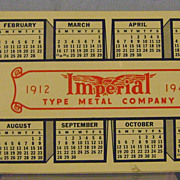 Imperial Metal Co. Advertising Celluloid Blotter Pac