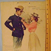 Vintage 1899 Armour's Army & Navy Art Calendar