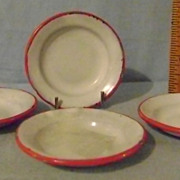 Vintage Children's Mini Granite Soup Bowls