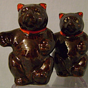 Vintage Teddy Bear Salt and Pepper Shakers