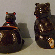 Vintage Teddy Bear Sugar and Creamer