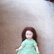 Dear 5&quot; Artist Doll in Green Crochet Outfit