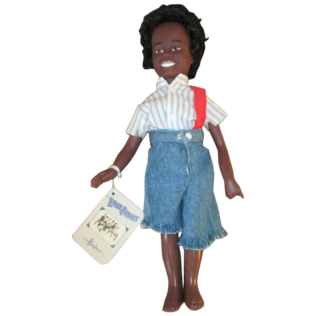 effanbee buckwheat doll little rascals all original with hang tag from nostalgicimages on. Black Bedroom Furniture Sets. Home Design Ideas
