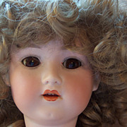 Sweet 23&quot; Bisque Head Doll - Marked GB - Pretty Face