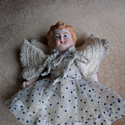 "Darling 5.5"" Antique German All Bisque Doll w/Molded Hair"