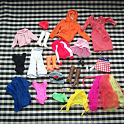 Assortment of Vintage Barbie Clothes  from 1960's & 1970's