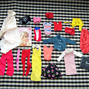 Assortment of Vintage Barbie Clothes ~ Some with Black & White Tags