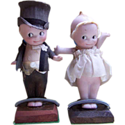Darling Set of Bride & Groom Kewpies ~ All Bisque & Cake Ready!