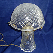 Mid-1900's Pressed Glass Electric Lamp