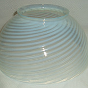 White blue opalescence 10&quot; glass shade.