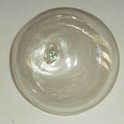 Hand blown clear glass fishing net float