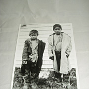 Inuit photo of 2 boys by Alexander Chesterfield