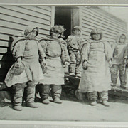 Photo of inuits at Great Whale River by Alexander Chesterfield
