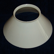 Antique White Slant Student Lamp Shade