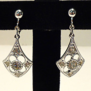 Vintage Sarah Coventry Dangle Rhinestone Earrings