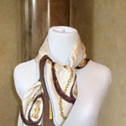 Fabulous Must de Cartier Silk Scarf