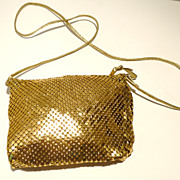 Gold Mesh Whiting and Davis Purse
