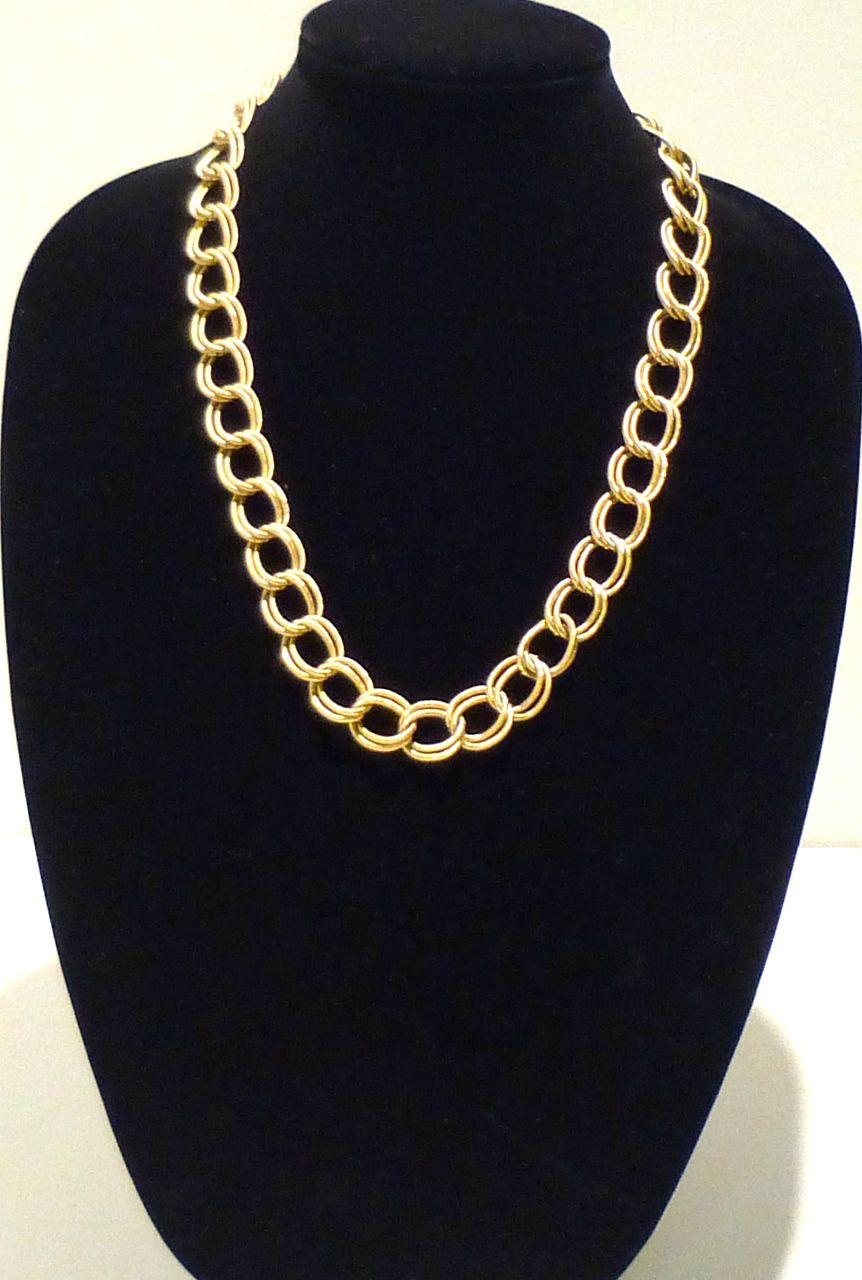 Classic Pierre Cardin Double Link Necklace