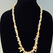 Rare Angel Skin Branch Coral Necklace