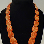 Rare Death Valley Wingate Pass Plume Agate Necklace