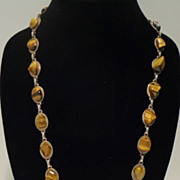 Vintage Tiger Eye Necklace
