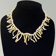 Rare Natural Angel Skin Branch Coral Necklace
