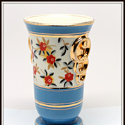 SALE Boch La Louviere Blue Vase 1930's