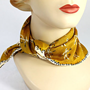 SALE Vintage Symphony  Silk Scarf  Saint  Sinner Theme