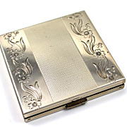 SOLD Vintage Sterling Volupte Compact with Original Advertising Insert