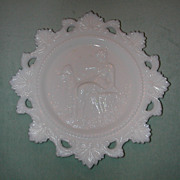 Westmoreland Cupid & Psyche Milk Glass Plate.