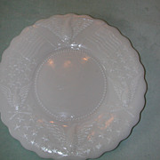 Kemple Flag, Eagle and Stars Milk Glass Plate.