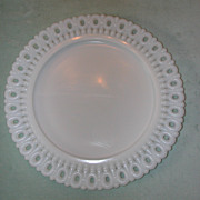 Westmoreland Ring and Dot Border Milk Glass Plate.