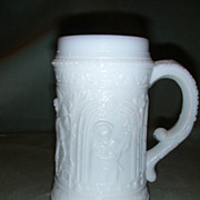 Westmoreland Lovers Stein Milk Glass Mug.