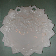 Westmoreland Three Bears Milk Glass Plate.