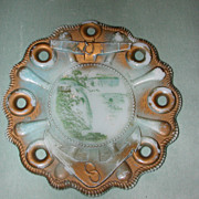M. Tonnemann Anchor and Belaying Pin Milk Glass Souvenir Plate.