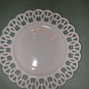 Westmoreland Wicket Border Milk Glass Plate.