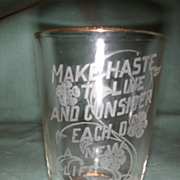"Crystal Etched ""New Life"" Motto Tumbler."