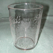 "Crystal Etched ""Lord's Prayer"" Motto Tumbler."