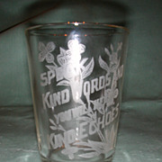 "Crystal Etched ""Kind Words"" Motto Tumbler."