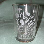 "Crystal Etched ""My God"" Motto Tumbler."