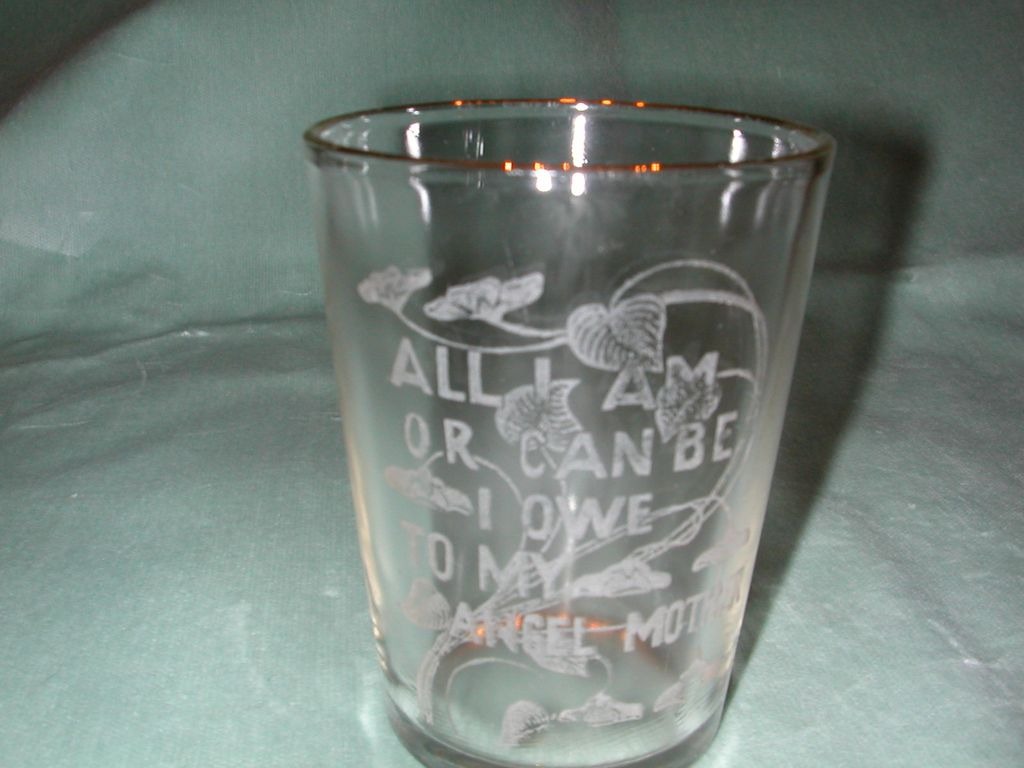 "Crystal Etched ""Angel Mother"" Motto Tumbler."