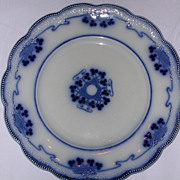 W.H. Grindley Lorne Flow Blue Plate.