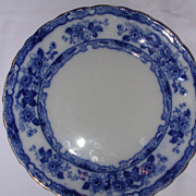 SALE T. Rathbone Japan Flow Blue Plate.